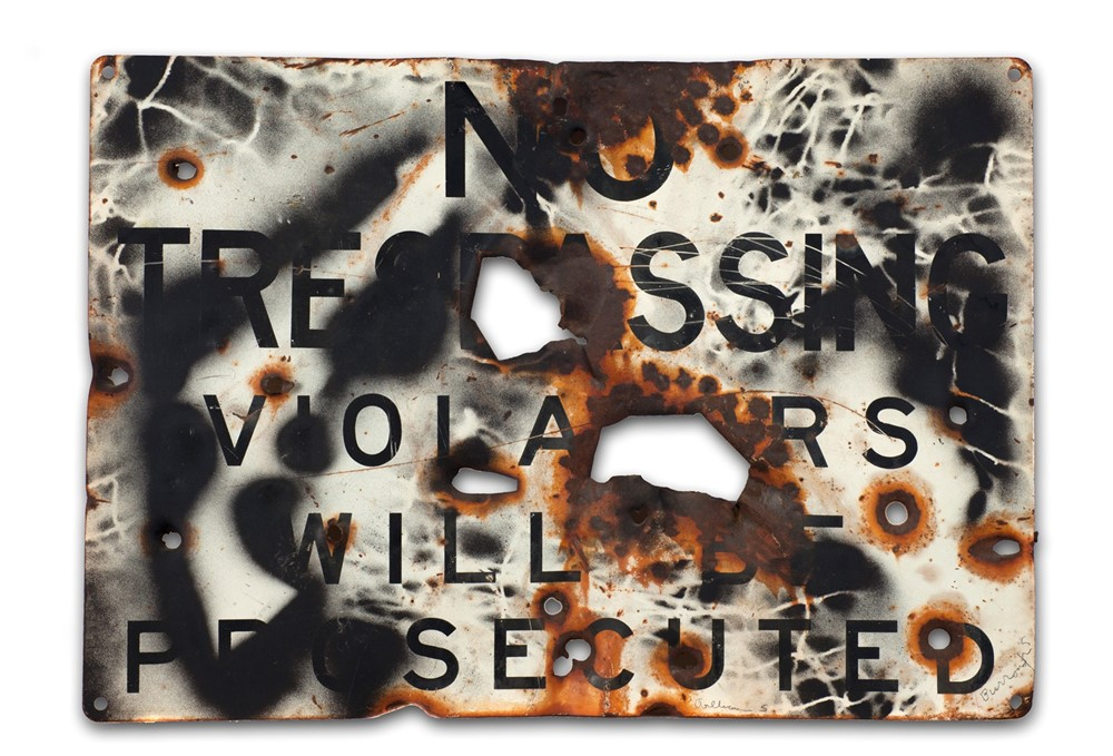 William S. Burroughs, Untitled, ca.1988. Spray pai