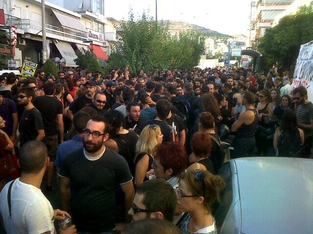 100s of people gather to pay respects where Fyssas