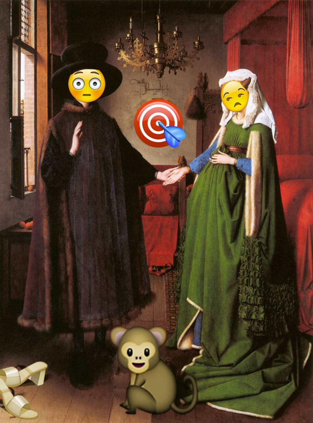 The Arnolfini Portrait - emoji Jan Van Eyck