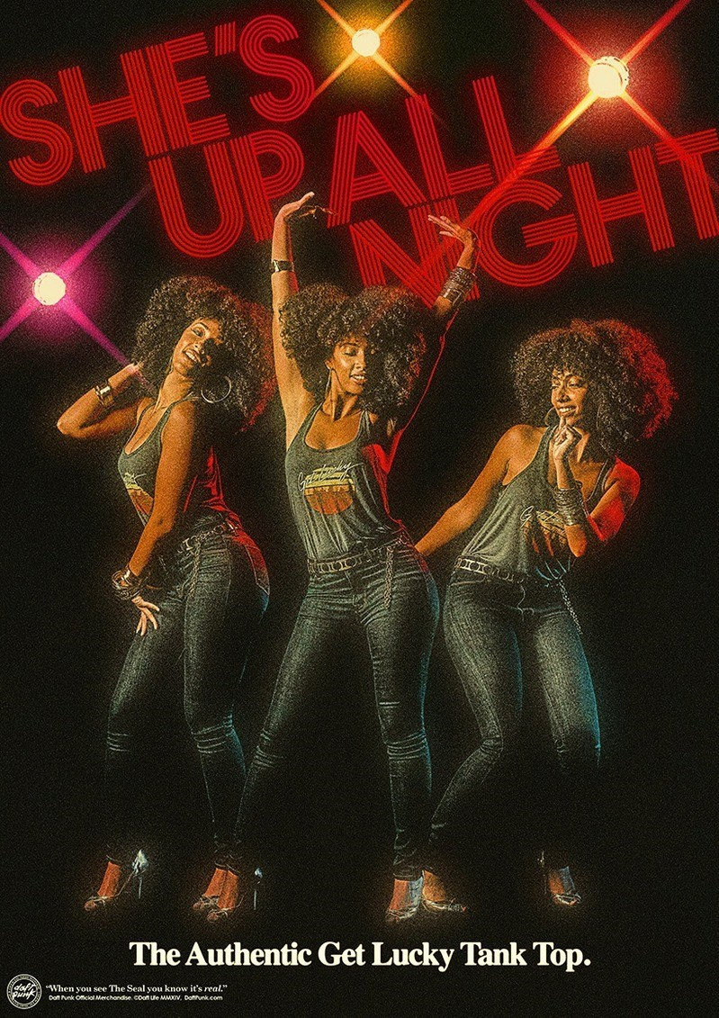 """Daft Punk poster for the  """"Get Lucky"""" tank top"""