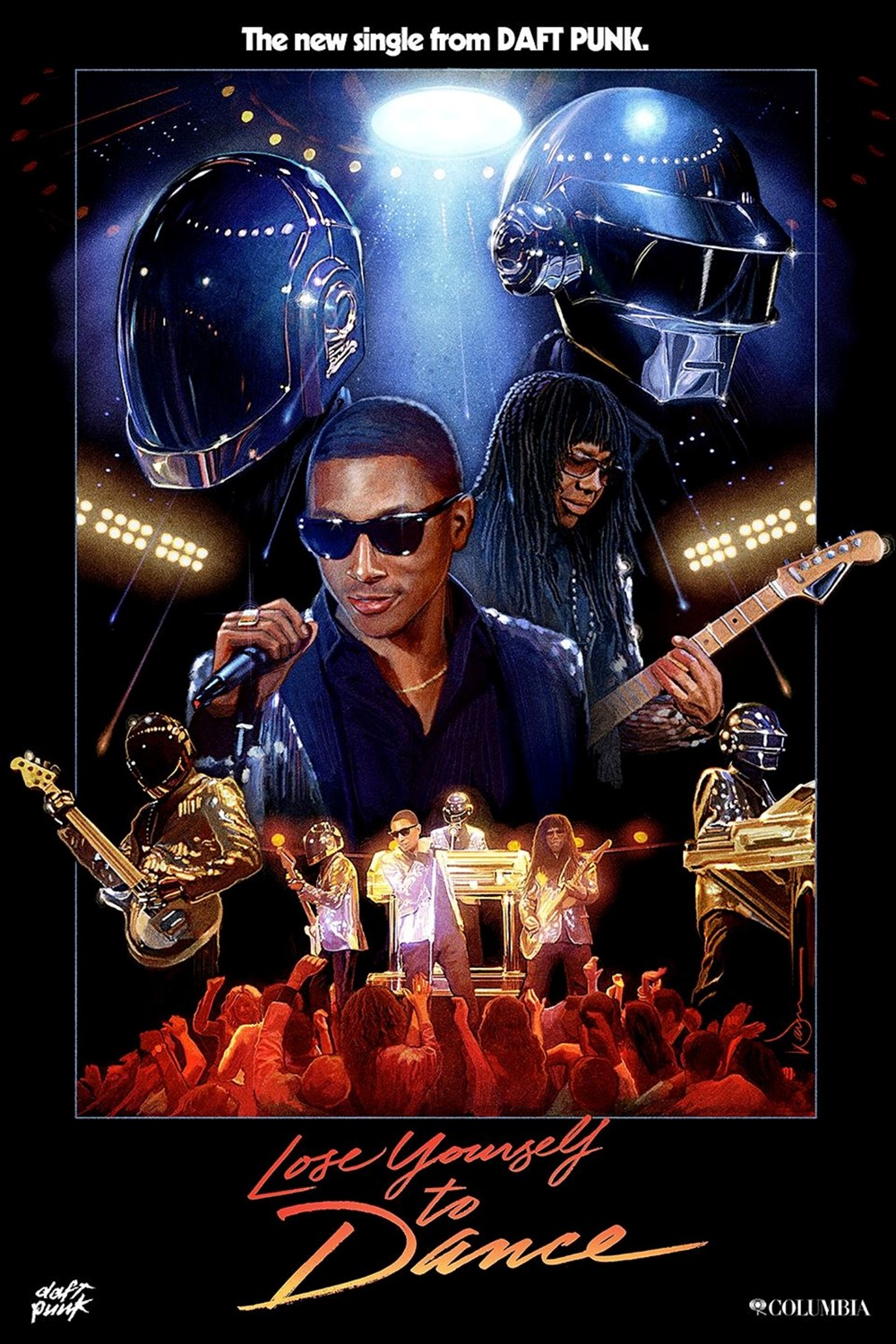 "The ""Lose Yourself To Dance"" Daft Punk poster"