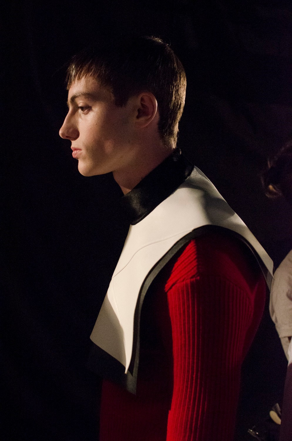 Nicomede Talavera SS15 Mens collections, Dazed backstage