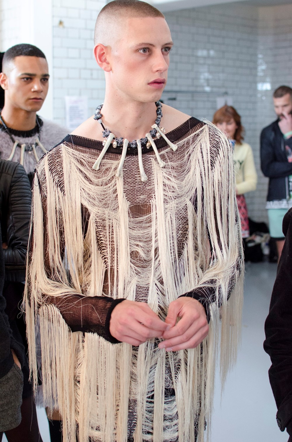 Sibling SS15 Mens collections, Dazed backstage