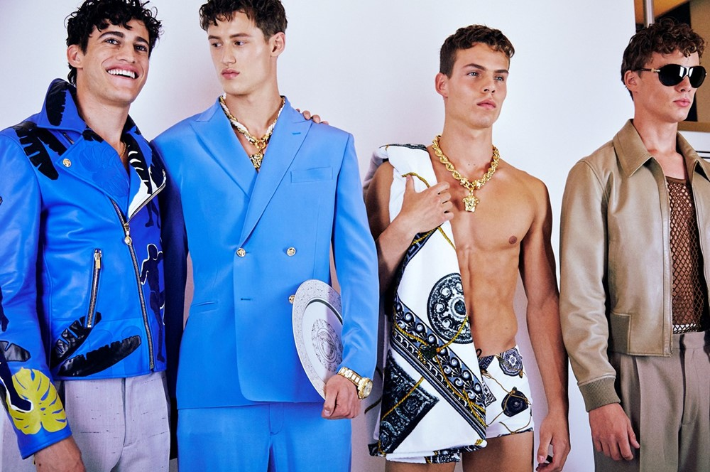 Versace SS15 Mens collections, Dazed backstage
