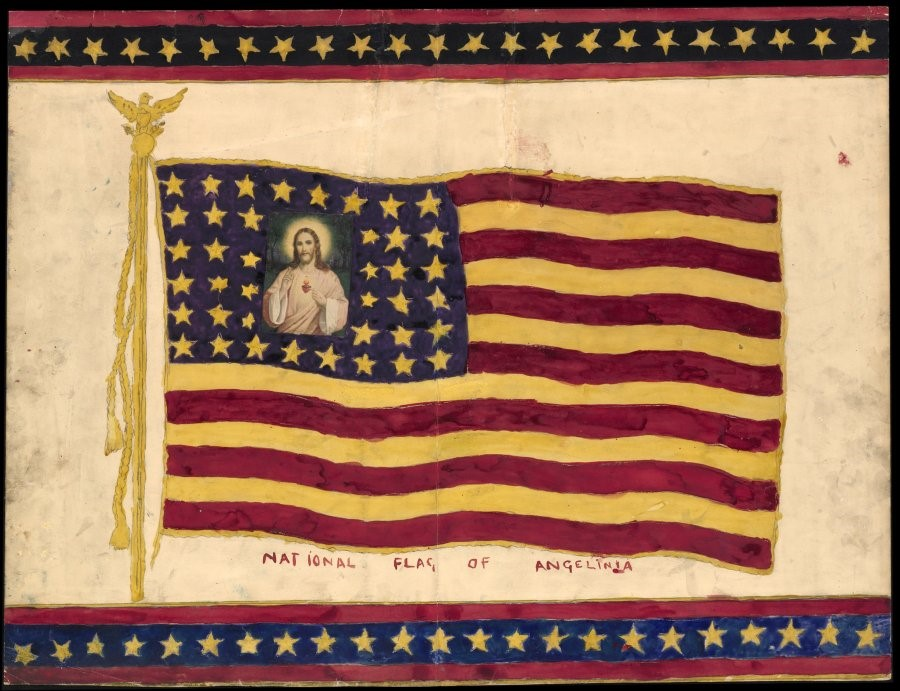 "Henry Darger ""Untitled (National Flag of Angelina)"
