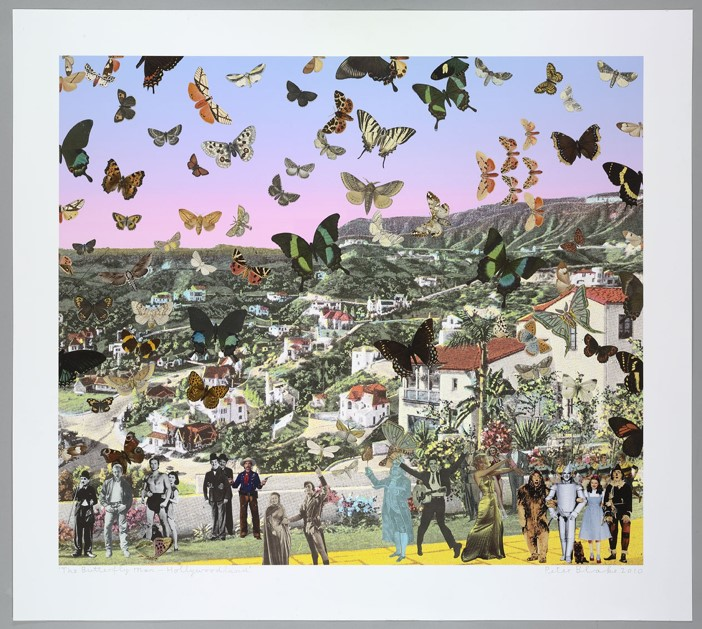 Homage to Damien Hirst, The Butterfly man, Hollywo