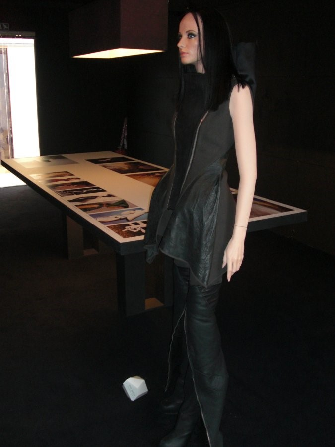 Rick Owens installation photographed by Georgette