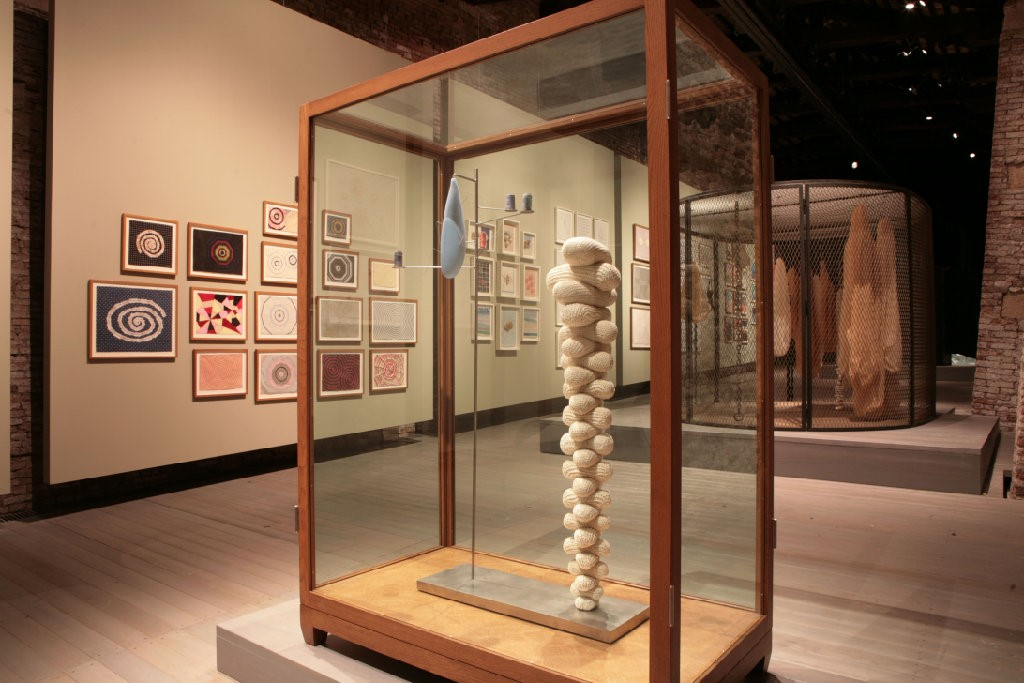 Installation view, 'Louise Bourgeois The Fabric Wo