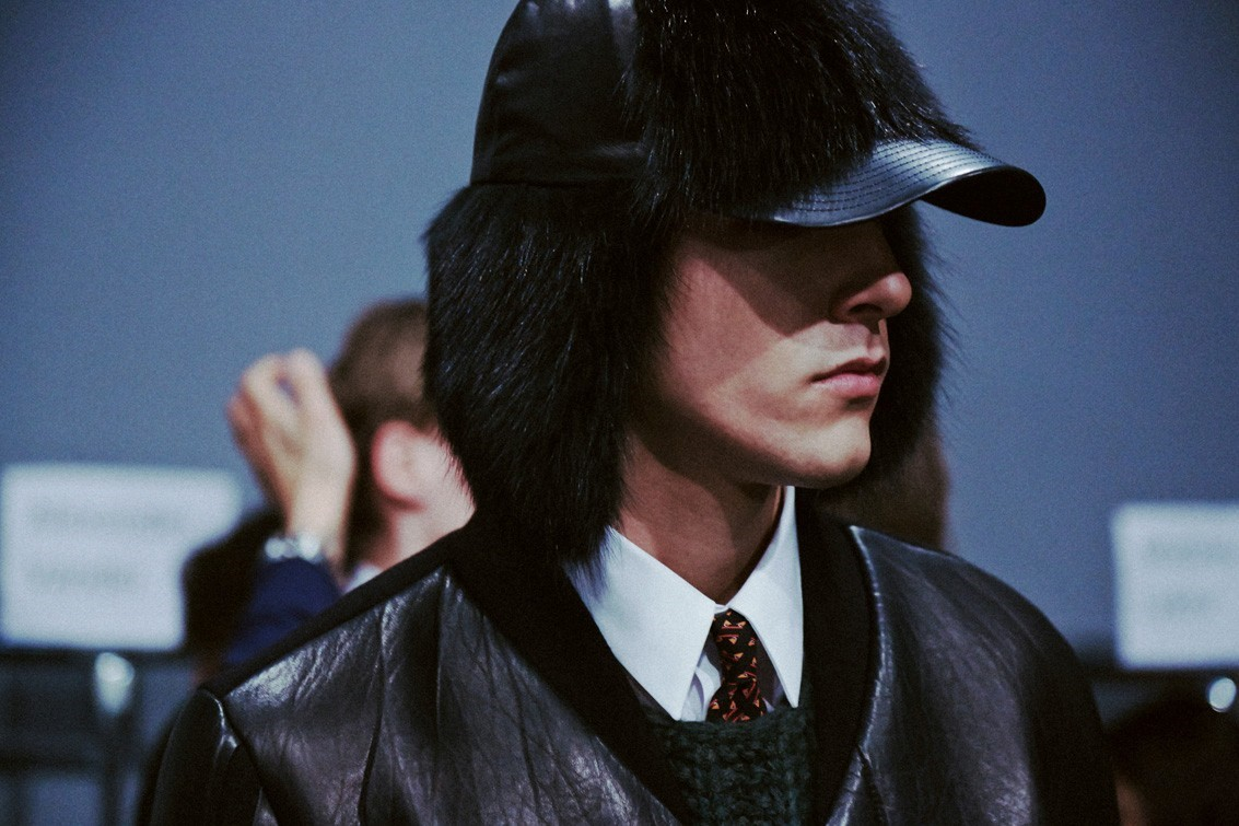 Backstage at Fendi AW14