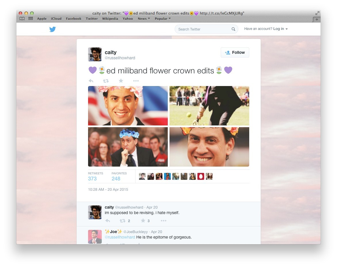 How ed miliband accidentally became a teen twitter pin up dazed izmirmasajfo