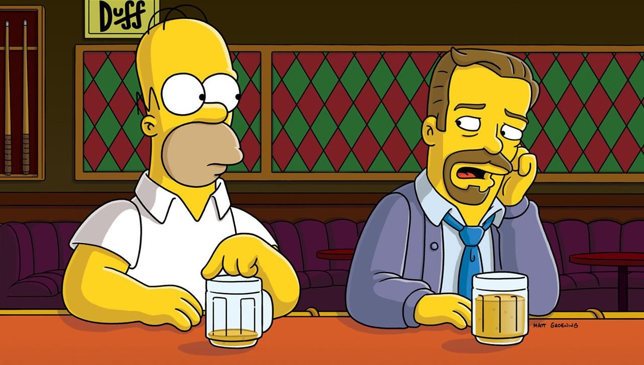 Homer and Ricky Gervais