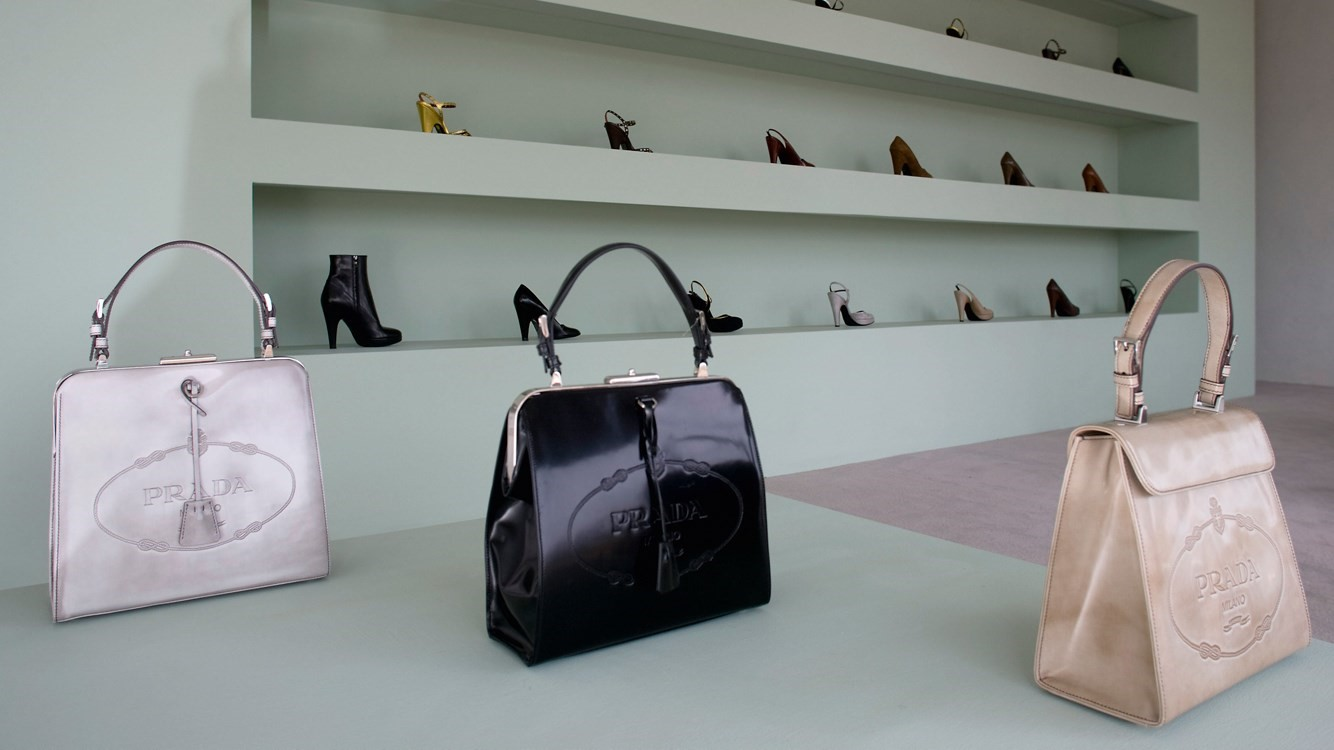 Prada Marfa interior bags and shoes