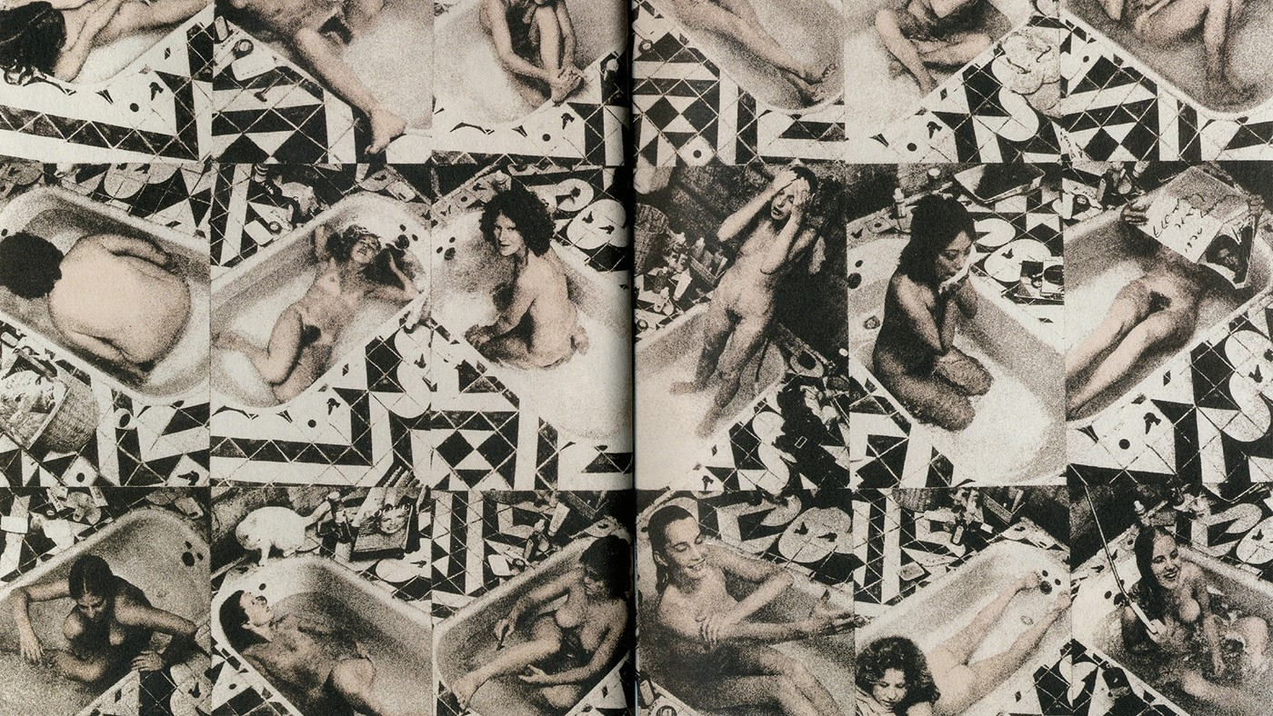 An original double page spread from WET