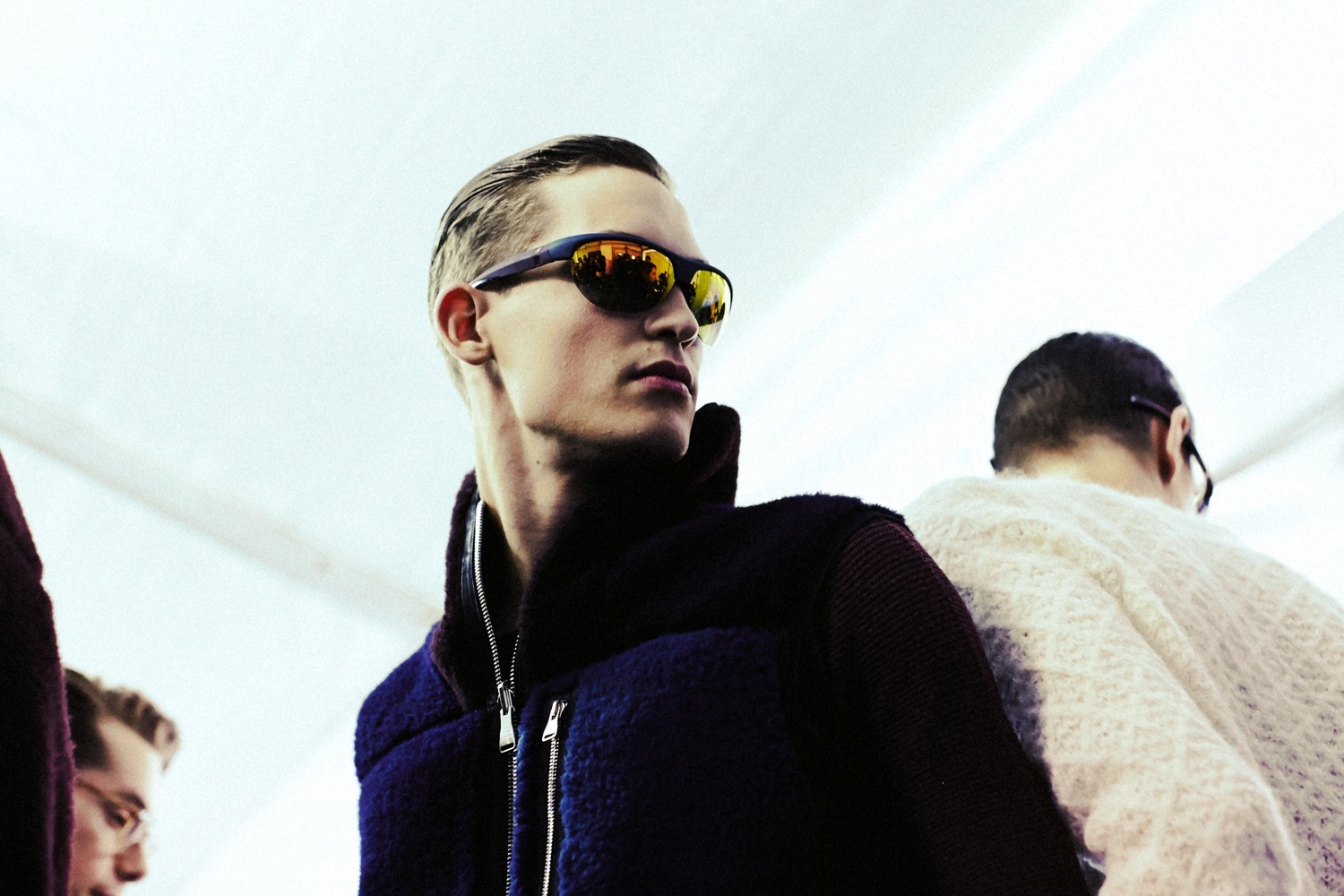 Backstage at Louis Vuitton AW14