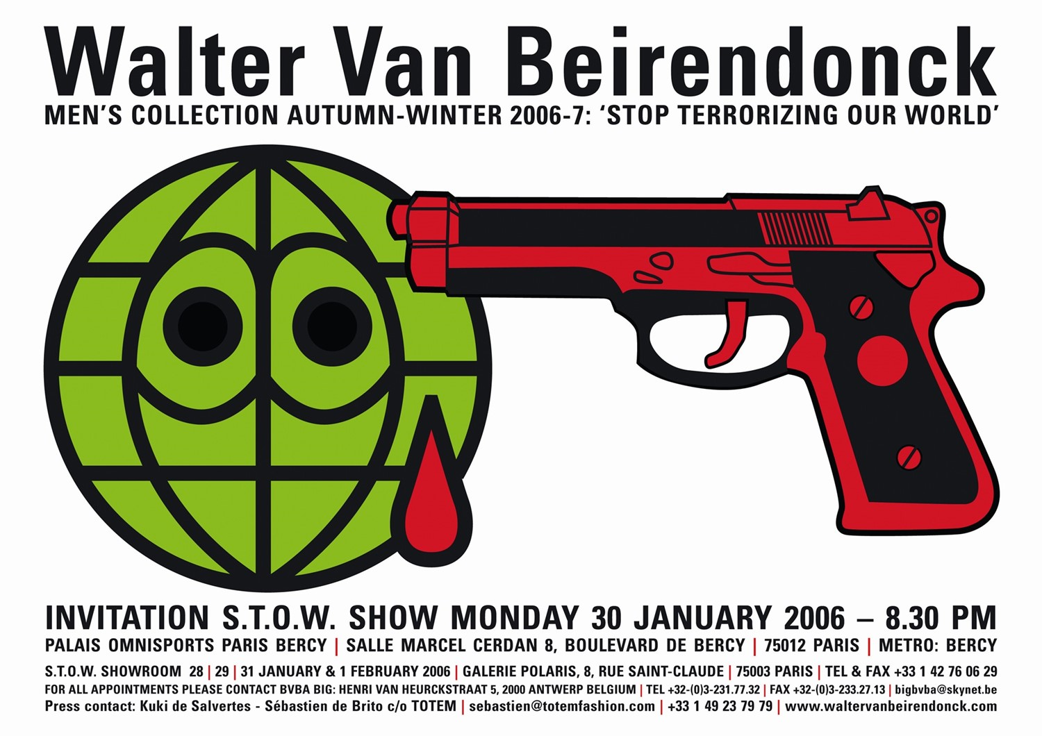 Walter Van Beirendonck STOW invitation AW06