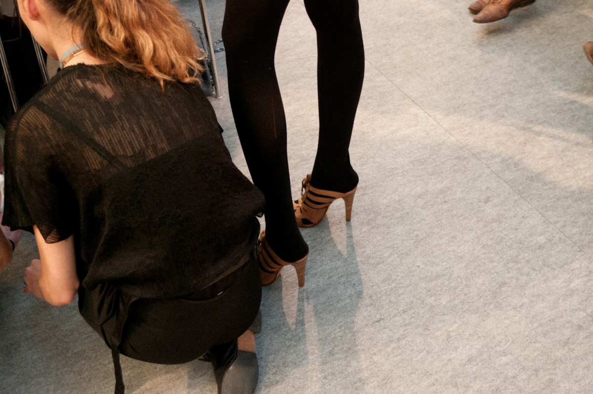 In Vanessa Bruno shoes, ready for rehearsal