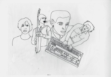 Beck's sketch of his friend and collaborator Phili