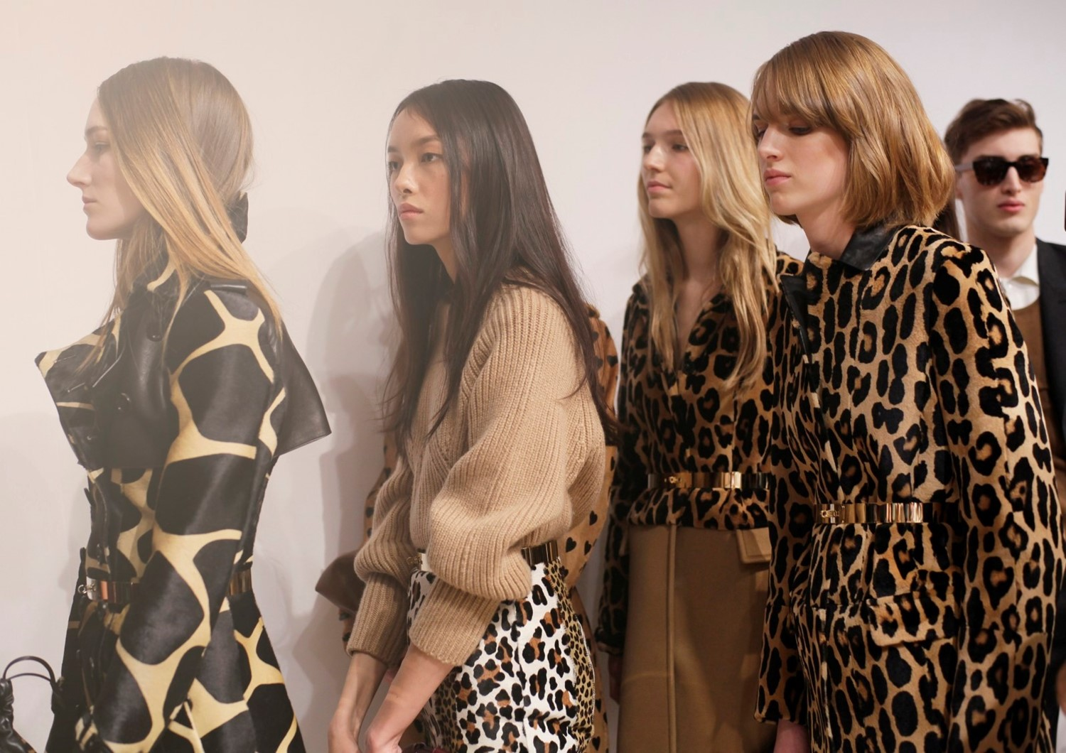 backstage at the burberry prosum womenswear autumn