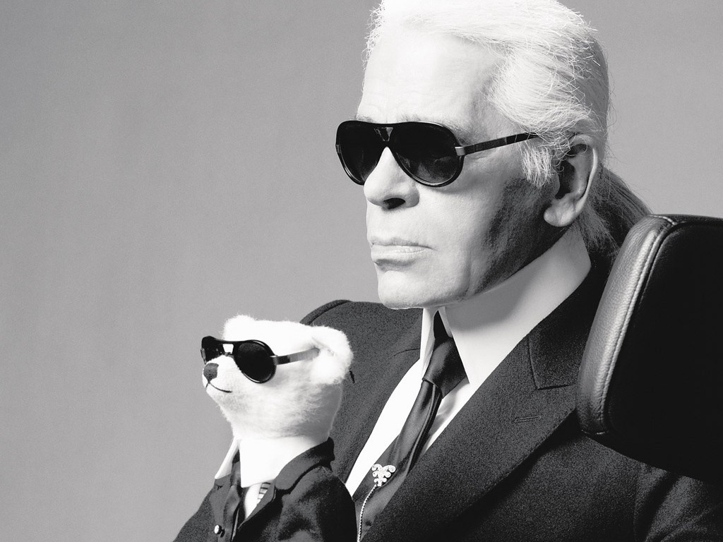 Karl Lagerfeld with teddy