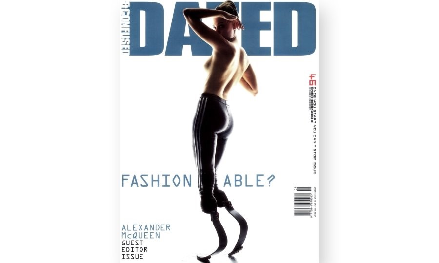 Above: cover of Dazed's Fashion-Able issue (#46, 1