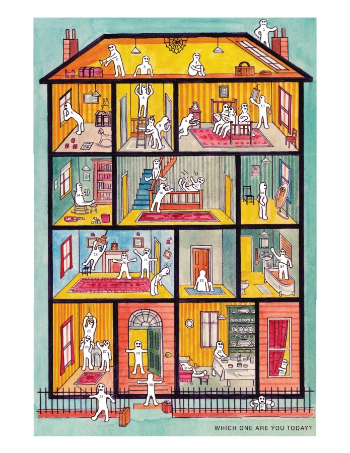 "Adam Dant poster ""Which one are you today?"""