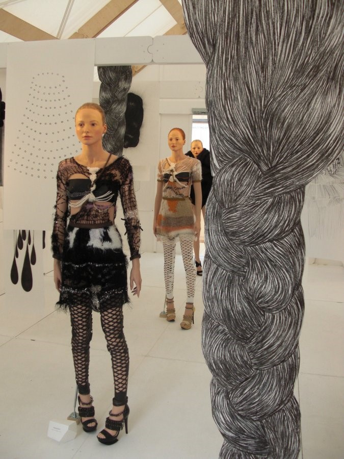 Rodarte installation photographed by Georgette Kon