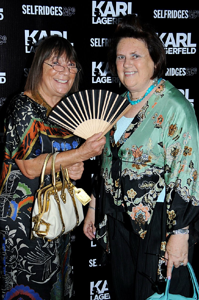 Hilary Alexander and Suzy Menkes