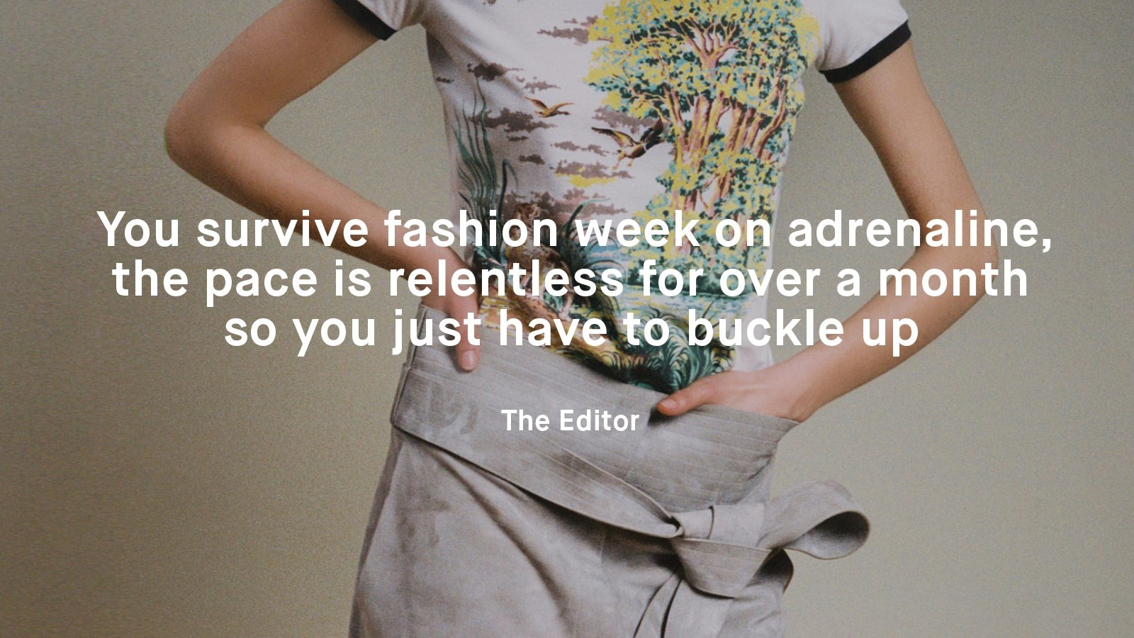 Jawbone wearable tech fashion week experiment quote