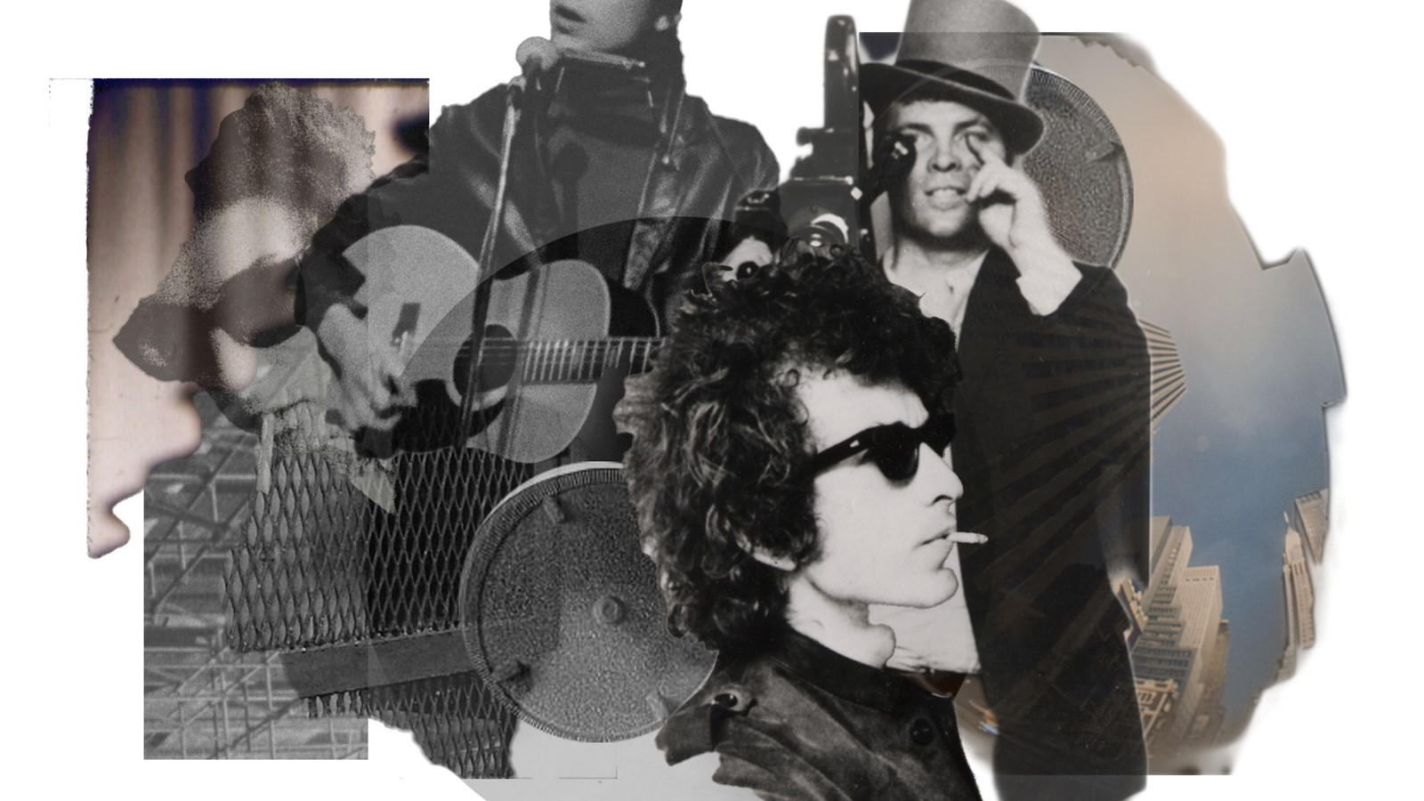 Bob Dylan collage