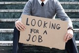 looking for a job placard