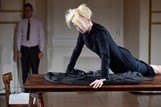 Tilda Swinon cloakroom performance Pitti
