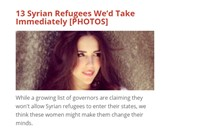 list of hot syrian refugees