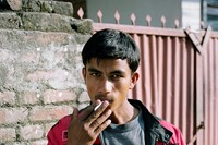 smoking boy