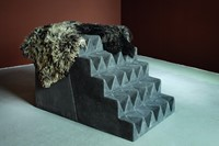 P197 Nemes GATE (STAIRS) 2009 concrete sheepskin &