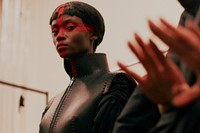 Gareth Pugh AW15, Britannia, Saint George's Cross, Leather