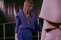 Dice Kayek Haute Couture SS15 Blue Structured Jumpsuit
