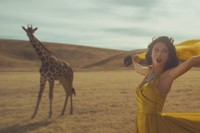 Taylor Swift and a giraffe