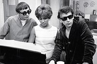 Darlene Love recording with Phil Spector and