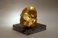 Folding Space (view 2) gold leaf & ceramic