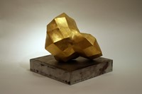 Folding Space (view 1) gold leaf & ceramic