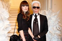 Karl Lagerfeld with Keira Knightley