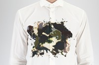 Bottega Veneta White printed shirt