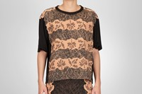 Bottega Veneta Studded viscose crepe printed top