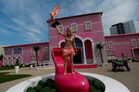 FEMEN at Barbie Dream House