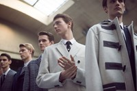 Dior Homme AW15 cream duffle coat, Menswear, Dazed backstage
