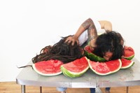 Oasa DuVerney Still from Post-Racial Watermelon Ea