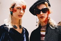 Vivienne Westwood AW15 womenswear backstage Dazed rebel red