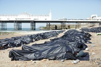 Amnesty protest body bags