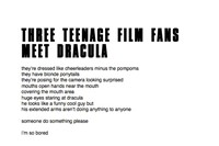 Three Teenage Film Fans meet Dracula Ana Carrete