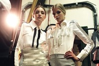 Backstage at the CSM BA 2009 show. Photograph by K